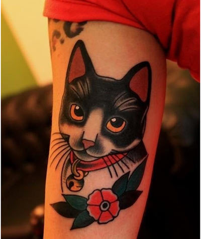 cat face tattoo designs