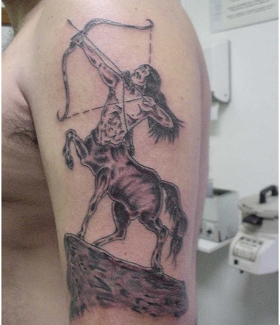 centaur tattoo art