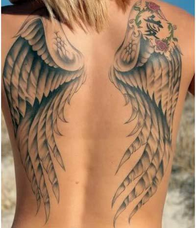 chinese angel tattoos