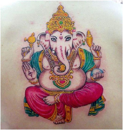 colours of lord ganesha
