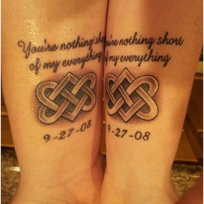 couple celtic tattoos