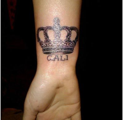 crown with names tattoos