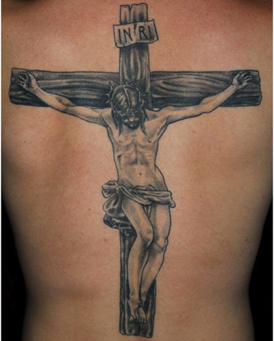 crucified jesus tattoos