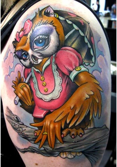 cute girl owl tattoos