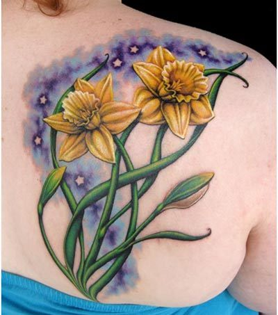 daffodils tattoos