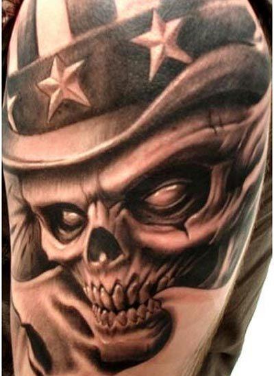 demonic skull tattoos