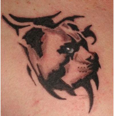dog outline tattoo