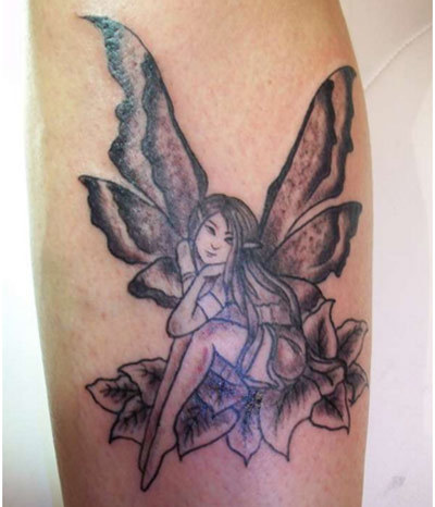 fairies with butterfly wings tattoos