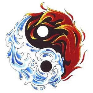 fire and water tattoo