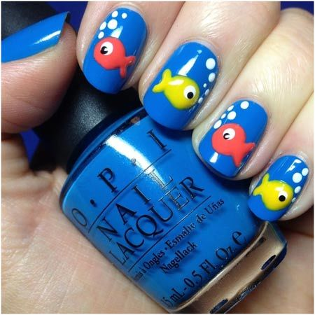 fish nails art Pinit - 50 Animal Themed Nail Art Designs To Inspire You