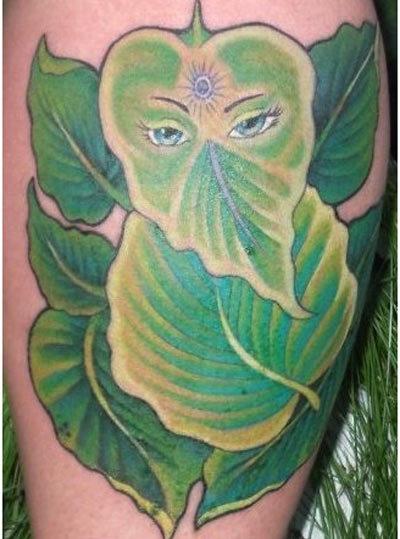 floral ganesh tattoo
