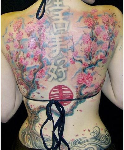 flower chinese tattoos