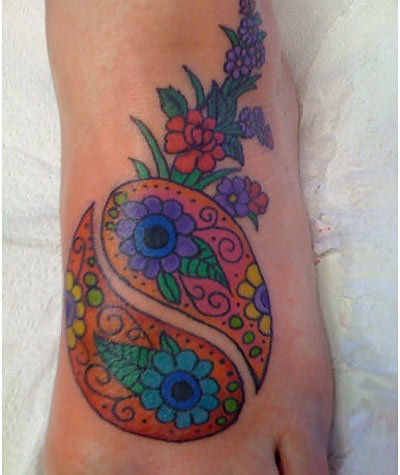 flower yin yang tattoo