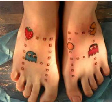 foot tattoo games