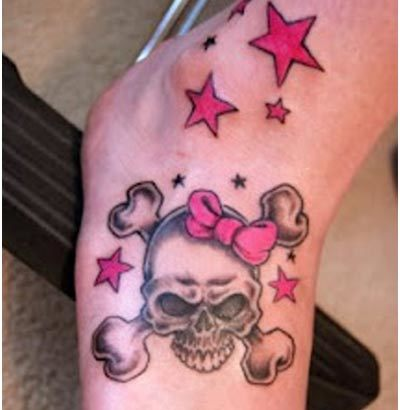 girly skull tattoos