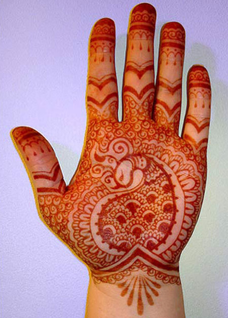 henna palm dsign