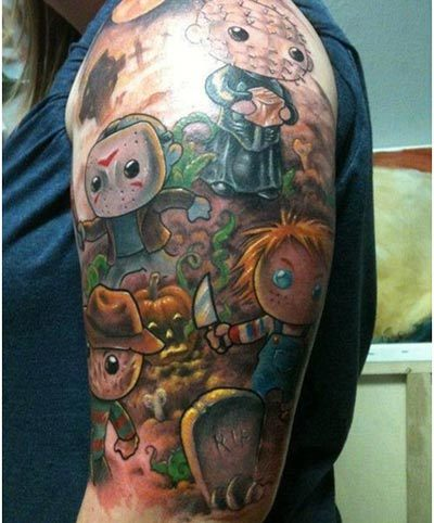 horror cartoon tattoos