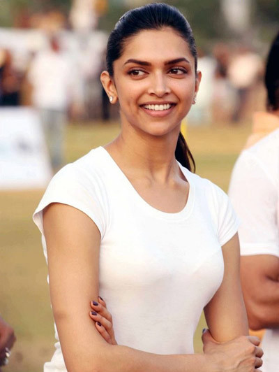 Deepika Padukone at a Cricket Match