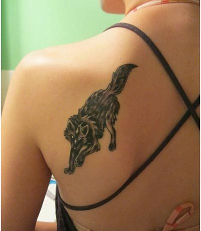 hunting wolf tattoos