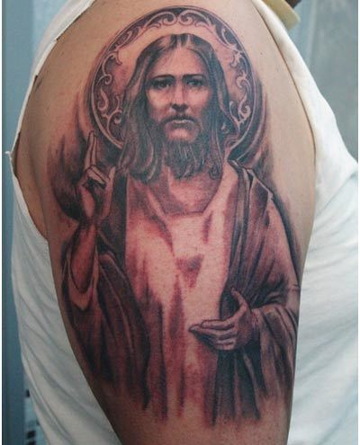 jesus halo tattoo