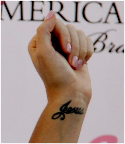 jesus name tattoo