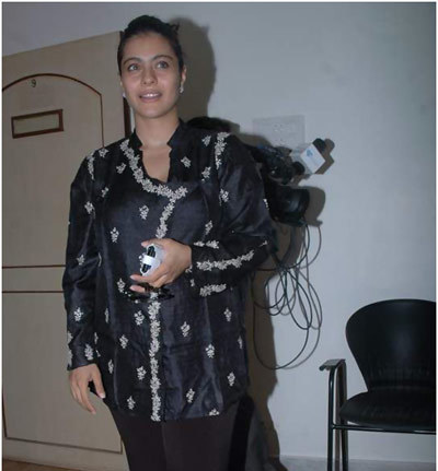Kajol Without Makeup at Rahul Rawail's Stella Adler Acting Studio Launch