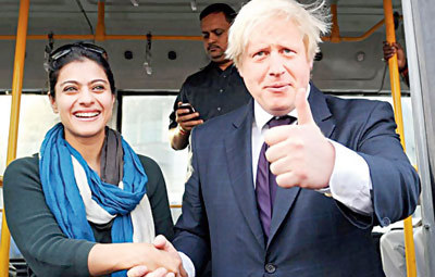 Kajol with Boris Johnson