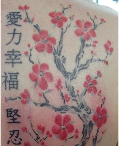 kanji flower tattoos