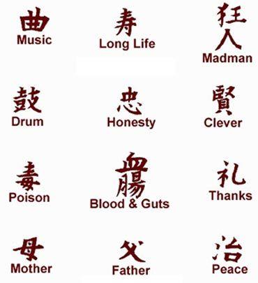 kanji symbols tattoos