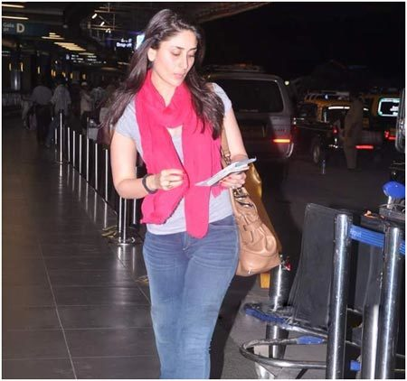 kareena kapoor at airport