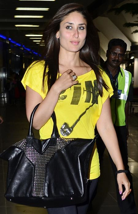 kareena kapoor yellow t shirt