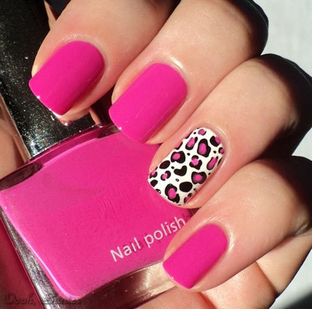 leopard print nails - 50 Animal Themed Nail Art Designs To Inspire You