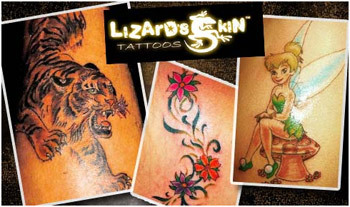 lizard skin tattoos