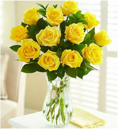 Long Stem Yellow Roses: