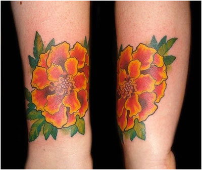 10 artistic flower tattoo designs marigold tattoos pinit mightylinksfo