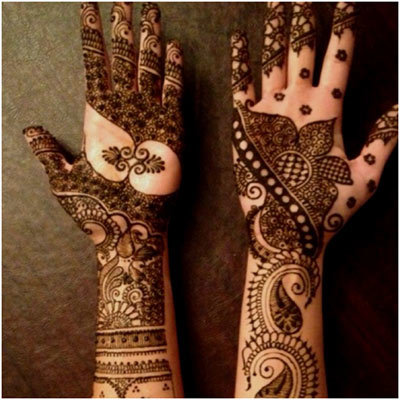 mehndi asymmetrical design