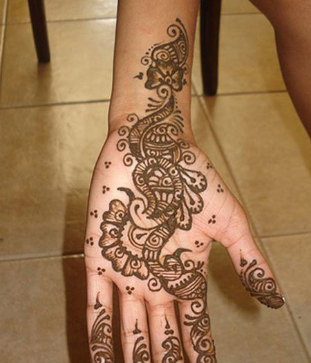 mehndi designs for hands simple