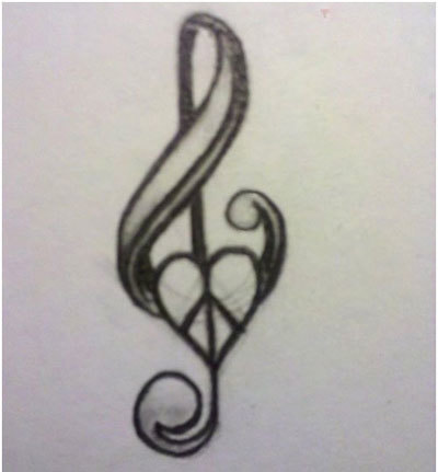 music and peace tattoos