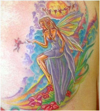 nature fairy tattoos