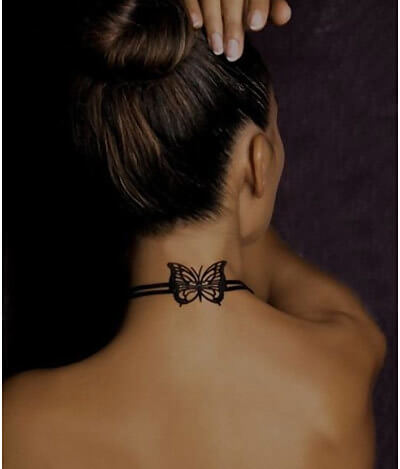 neck bow butterflies