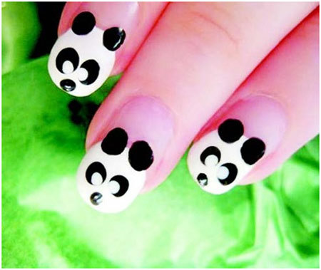 50 animal themed nail art designs to inspire you panda nail art designs prinsesfo Images
