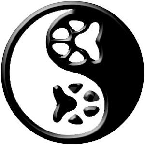 paw print yin yang tattoo