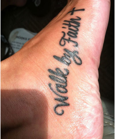 quotes foot tattoo