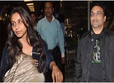 rani mukherjee at airport