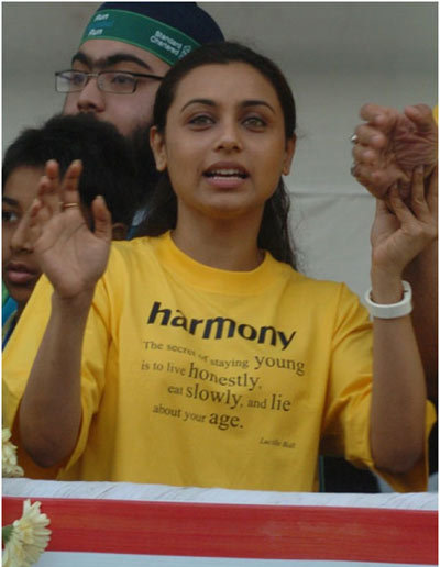 rani mukherjee at circket