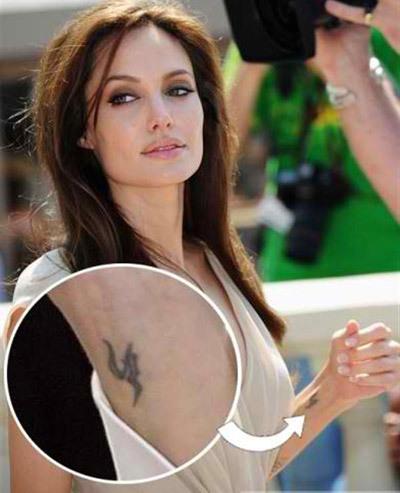 Angelina Jolie Tattoos - 3. Rune Style