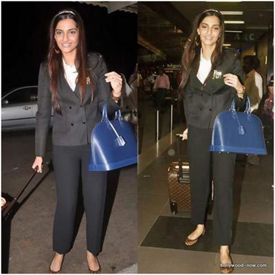 sonam kapoor at airport