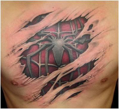 spider man spider tattoo