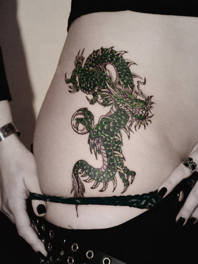 spiked dragon tattoo