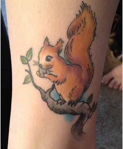 squirrel tattoo designs